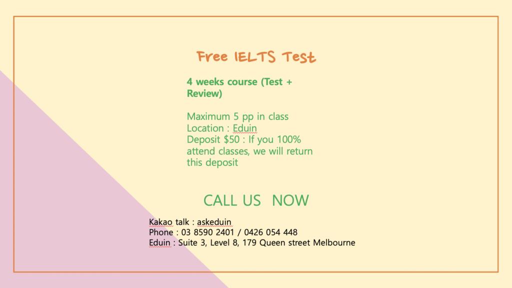 Free IELTS test